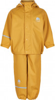 Celavi Kinder Regenset Basic Rainwear Set Solid PU Mineral Yellow