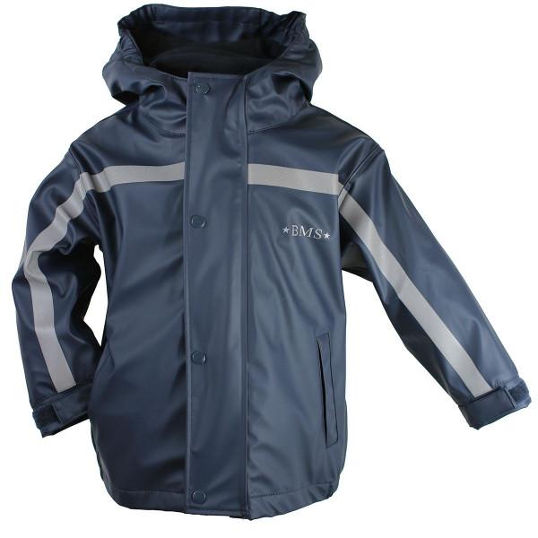 BMS Kinder Regenjacke Antarctic Softskin Buddeljacke OekoTex Marine