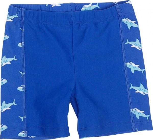 Playshoes Kinder Badehose UV-Schutz Shorts Hai Blau