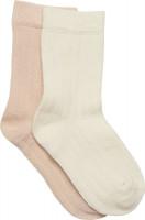 Minymo Kinder Socke Ankle Sock Bamboo (2er Pack) Off White