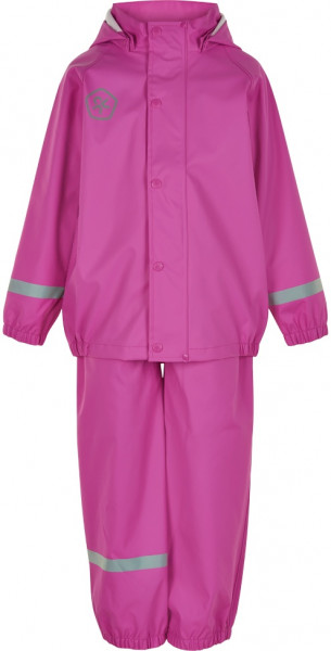 Color Kids Kinder Regenset Set Recycled Pu Welded Seams Rose Violet