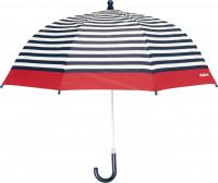 Playshoes Kinder Regenschirm Maritim Marine/Weiß