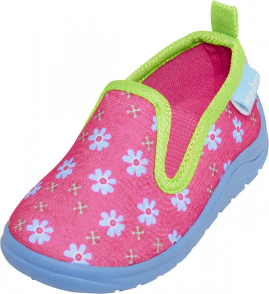 Playshoes Kinder Schuh Hausschuh Blumen Pink