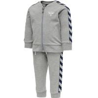 Hummel Kinder Trainingsanzug Bille Tracksuit Grey Melange