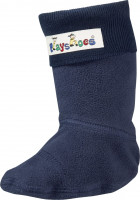 Playshoes Kinder Fleece-Stiefel-Socke Marine