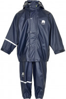 Celavi Kinder Regenset Basic Rainwear Set Solid PU Dark Navy