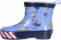 Playshoes Kinder Gummistiefel Halbschaft Baustelle Bleu