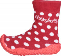 Playshoes Kinder Schuh Aqua-Socke Punkte Rot