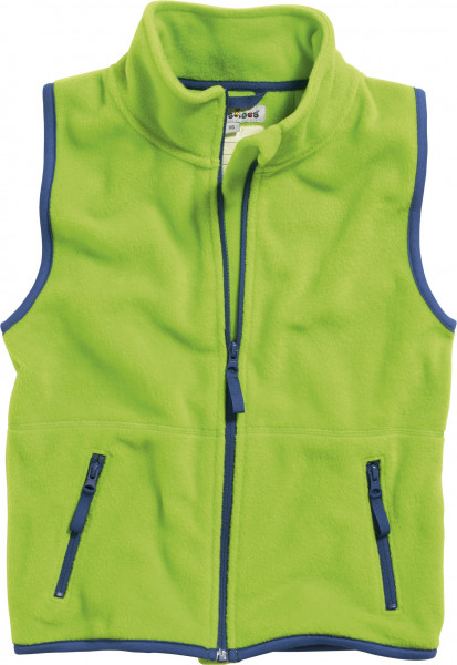 Playshoes Kinder Fleece-Weste farbig abgesetzt grün