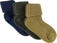 Minymo Kinder Socke Baby Sock Rib (3er Pack) Agave Green