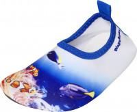 Playshoes Kinder Barfuß-Schuh Unterwasserwelt Blau
