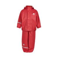 Celavi Kinder Regenset Basic Rainwear Set Solid PU Red