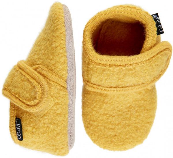 Celavi Kinder / Baby Schuhe Baby Wool Slippers Bamboo Yellow