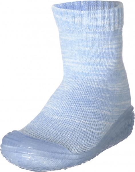 Playshoes Kinder Hausschuh gestrickt bleu