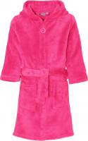 Playshoes Kinder Fleece-Bademantel Uni Pink