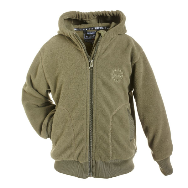 BMS Kinder Antarctic Clima-Fleece College Kids Jacke Khaki