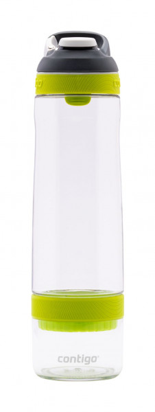 Contigo Trinkflasche Cortland Infuser Autospout Clear Vibrant Lime mit 770ML Fassungsvermögen