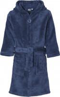Playshoes Kinder Fleece-Bademantel Uni Marine