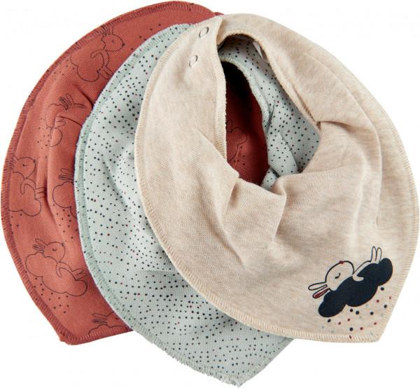 Pippi Baybwear Kinder Halstuche Schal Bandana Bib Uni - Aop (3-Pack) Redwood