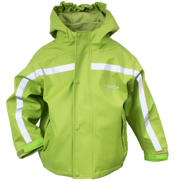 BMS Kinder Regenjacke Antarctic Softskin Buddeljacke OekoTex Limette