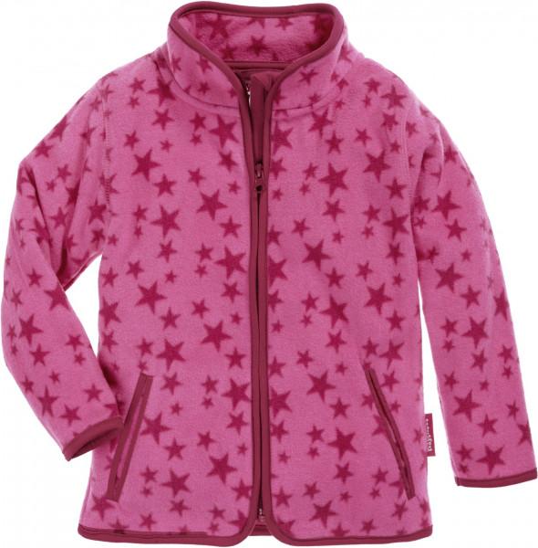 Playshoes Kinder Fleece-Jacke Sterne pink