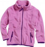 Playshoes Kinder Fleece-Jacke farbig abgesetzt Pink