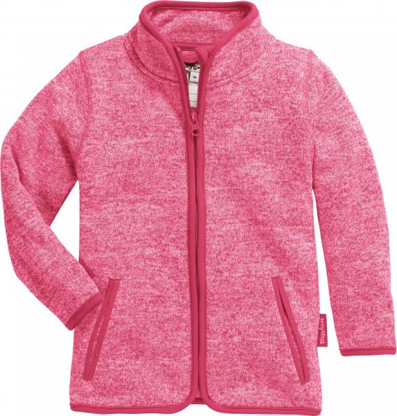 Playshoes Kinder Strickfleece-Jacke pink