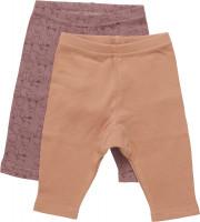 Pippi Babywear Kinder Leggings mit AOP (2er Pack) Burlwood