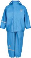 Celavi Kinder Regenset Basic Rainwear Set Solid PU Blue