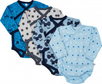 Pippi Babywear Kinder Body Wrap AO-Printed (4er Pack) Blue