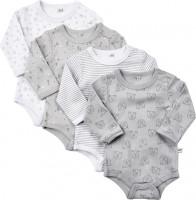 Pippi Babywear Kinder Body LS AO-Printed (4er Pack) Harbor Mist
