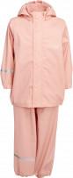Celavi Kinder Regenset Basic Rainwear Set Solid PU Peach