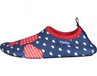 Playshoes Kinder Barfuß-Schuh Herzchen Marine