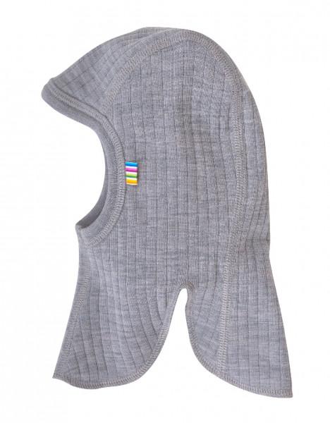 Joha Kinder Mütze Schlupfmütze aus 100% Wolle Light Grey Melange