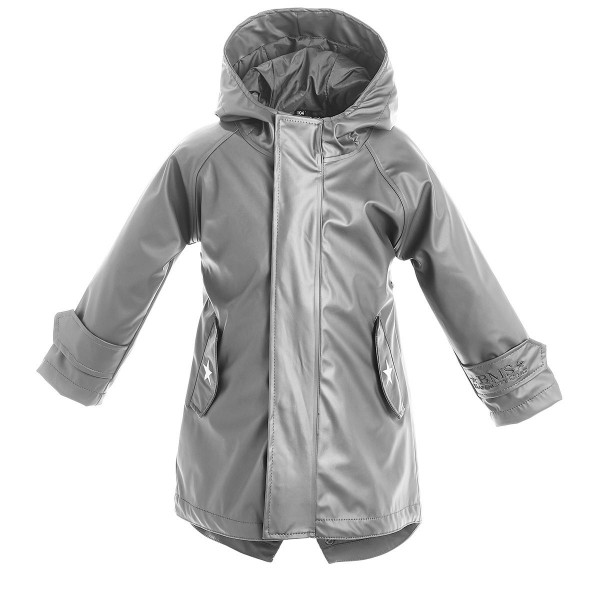 BMS Kinder Regenjacke HafenCity Coat Kids Pu/Lining Cool Grey