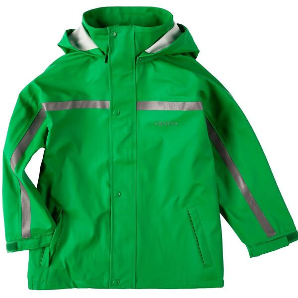 BMS Kinder Regenjacke Softskin Buddeljacke Grün