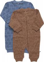 Pippi Babywear Kinder Schlafanzug Nightsuit Zipper (2er Pack) Blue Mirage