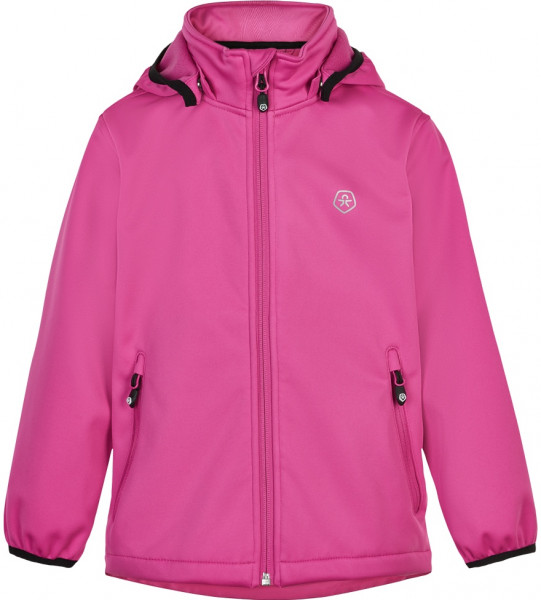 Color Kids Kinder Jacke Softshell W/Fleece, Af 8.000 Cerise Red