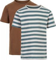 Minymo Jungen Basic 32 T-Shirt (2er Pack) Toffee