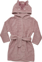 Pippi Babywear Kinder Bademantel Organic Bath Robe Misty Rose