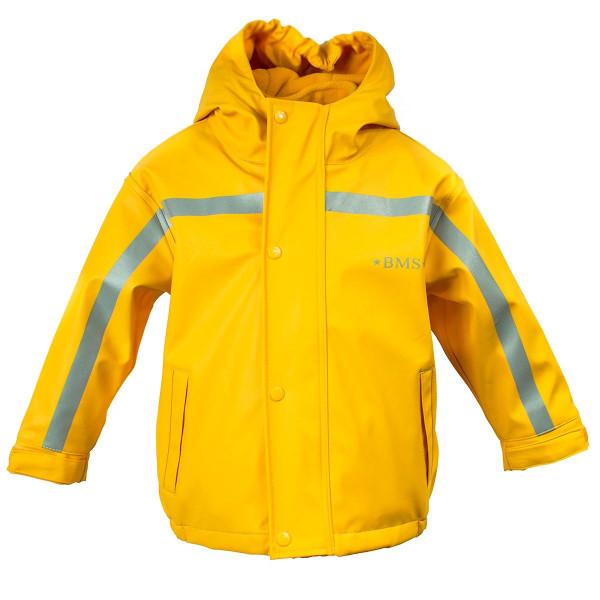 BMS Kinder Regenjacke Antarctic Softskin Buddeljacke OekoTex Gelb