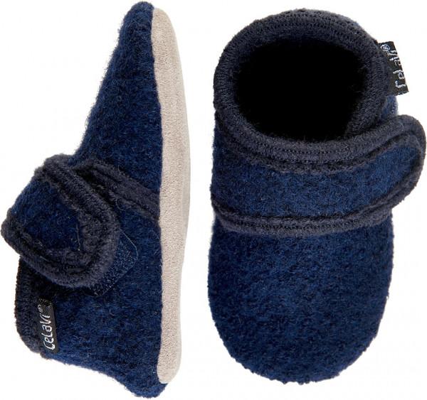 Celavi Kinder / Baby Schuhe Baby Wool Slippers Dark Navy