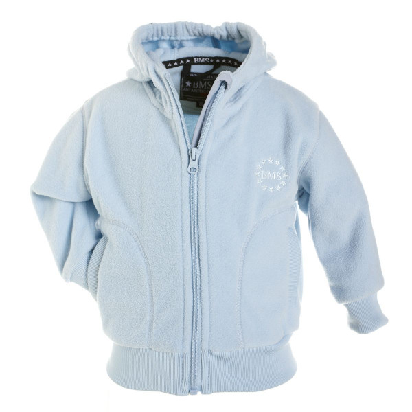 BMS Kinder Antarctic Clima-Fleece College Kids Jacke Hellblau