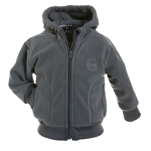BMS Kinder Antarctic Clima-Fleece College Kids Jacke Cool Grey