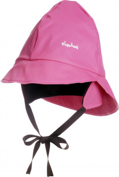 Playshoes Kinder Regenmütze, Fleecefutter pink