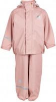 Celavi Kinder Regenset Basic Rainwear Set Solid PU Misty Rose