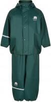 Celavi Kinder Regenset Basic Rainwear Set Solid PU Ponderosa Pine Green